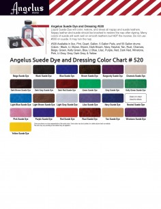 Angelus suede dye and dressing