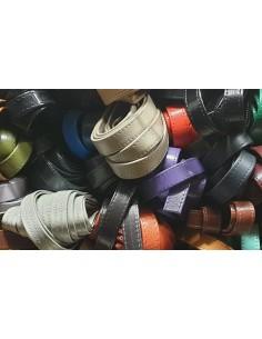 Cinturino pelle cucita 12 mm