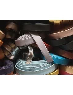 Cinturino pelle cucita 20 mm